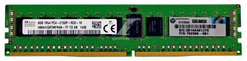HPE HPE HP 752368-081 8GB PC4-17000 2133MHz CL15 ECC DDR4 SDRAM Server Memory Module