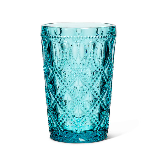 This turquoise decorated highball is the perfect way to add a splash of colour at your next special event or outdoor party.