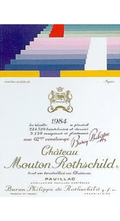 1984 Ch Mouton Rothschild Ier Grand Cru