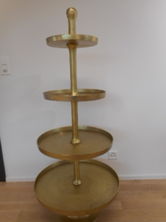 Etagere metall/gold H 140cm