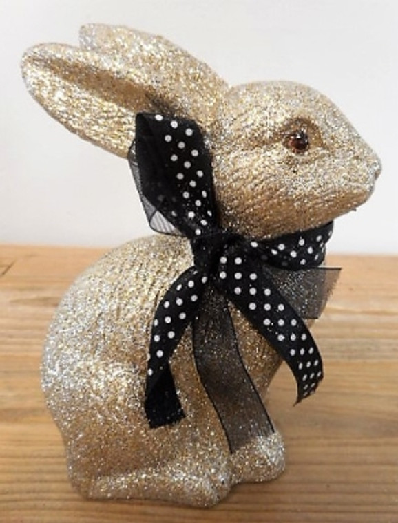 Hase Gold oder Silber Glitter