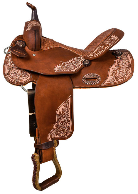 """The Alamo Saddlery """"Vintage Vibes"""" Barrel Horse Saddle 16"""""""