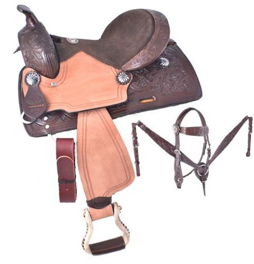 """12"""" Double T  Pony saddle set"""