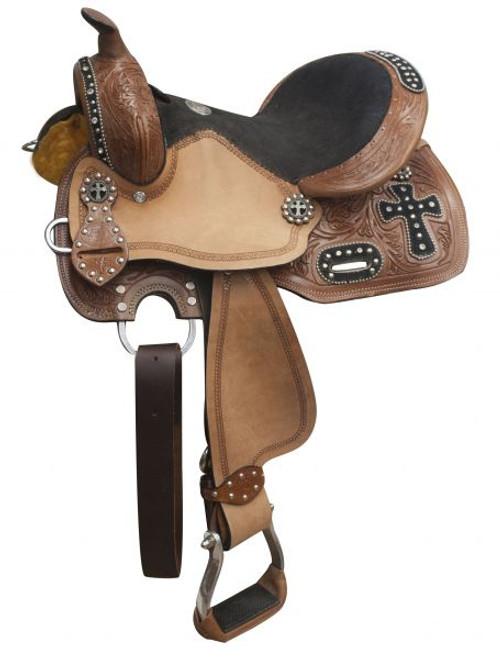 """10"""", 12"""" Double T youth barrel style saddle"""