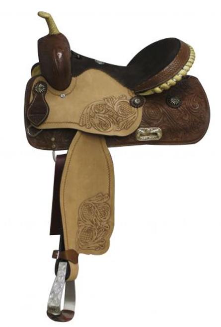 """14"""", 15"""", 16""""  Double T Barrel Style Saddle"""