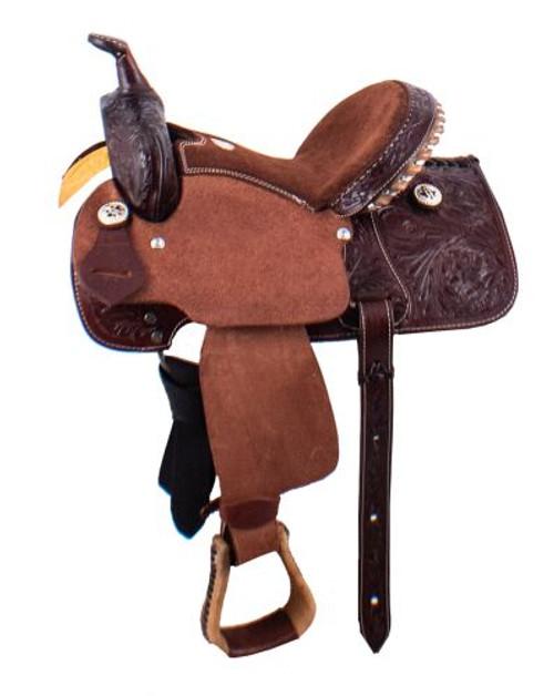 """12"""" Buffalo Youth Barrel Style Saddle"""