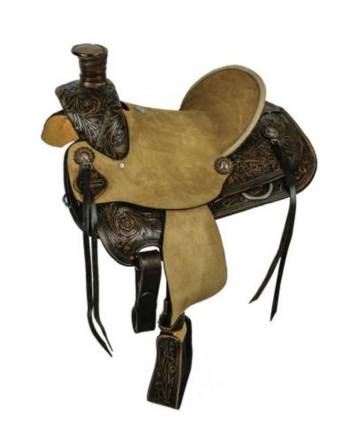 "14"" and 15"" Double T  hard seat roper style saddle"