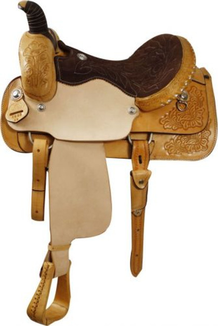 Roping Style Saddle Made By Circle S Saddlery WITH a warranty for roping