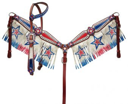 Showman Red/ White/ Blue patriotic fringe set