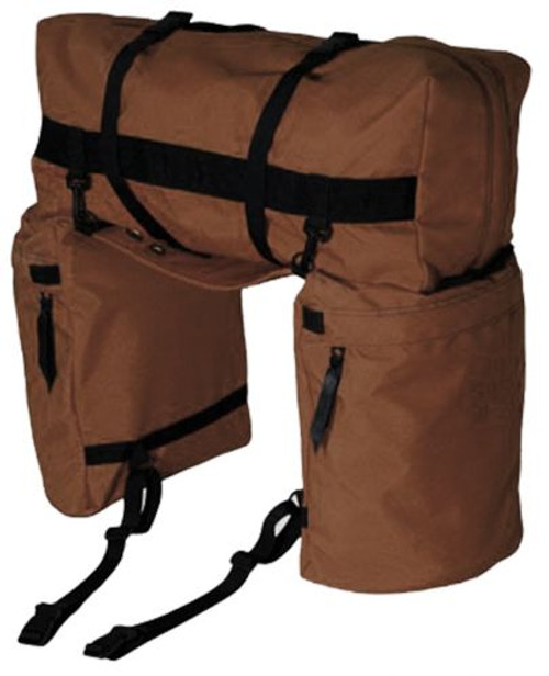 Showman ® Nylon Oversized Saddle and Cantle Bag Brown