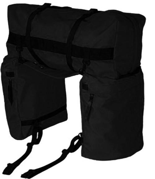 Showman ® Nylon Oversized Saddle and Cantle Bag Black