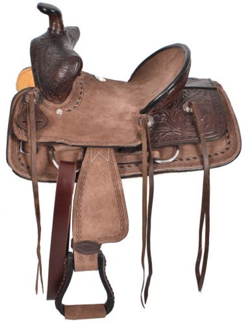 "10"" Double T  Youth hard seat bear trap style saddle"