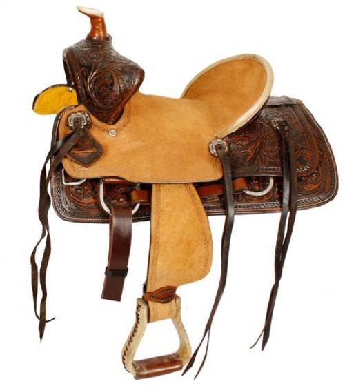 "12"", 13"" Double T  Youth hard seat bear trap style saddle"