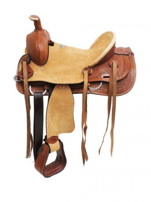 """14"""", 15"""" Double T  Hard Seat Roper Style Saddle"""