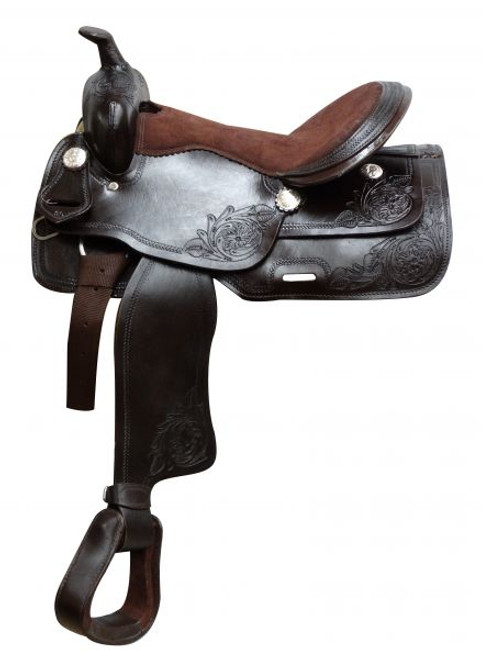 """16""""  Economy Brown Saddle with Suede Leather Seat"""