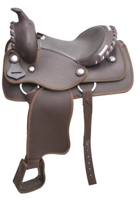 """12"""" Brown Synthetic Pony Saddle"""