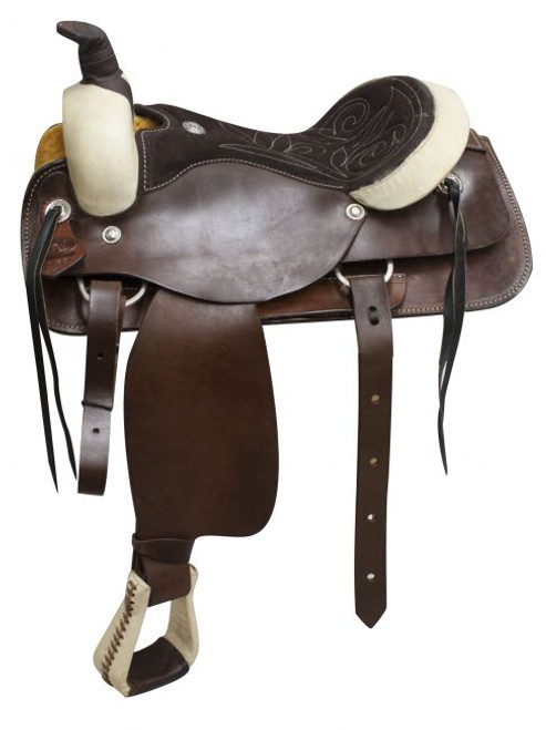 Circle S Roper/Pleasure Style Saddle with Suede Leather Seat