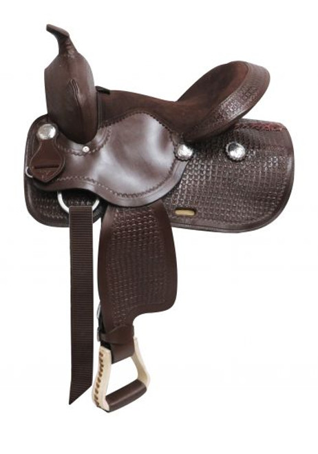 """13"""" Brown Economy Western Style Saddle with Suede Leather Seat"""
