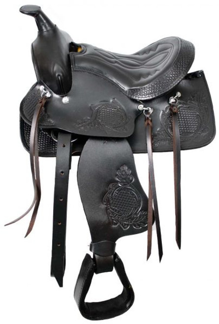 """10"""" Brown Pony Saddle with Top Grain Leather Seat"""