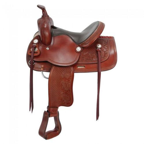 "12"" 13"" 14"" Royal King Dodge Jr. Youth Saddle in Medium Tan"