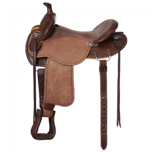 Brisbane Dark Oil Roughout Trail Saddle with Horn