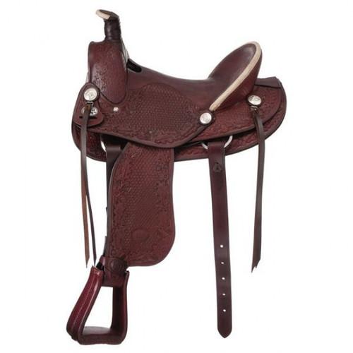Medium Brown Royal King Hardseat San Marcos Rancher Saddle