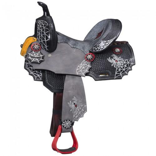"""10"""" Miniature/Pony Black Widow Saddle"""