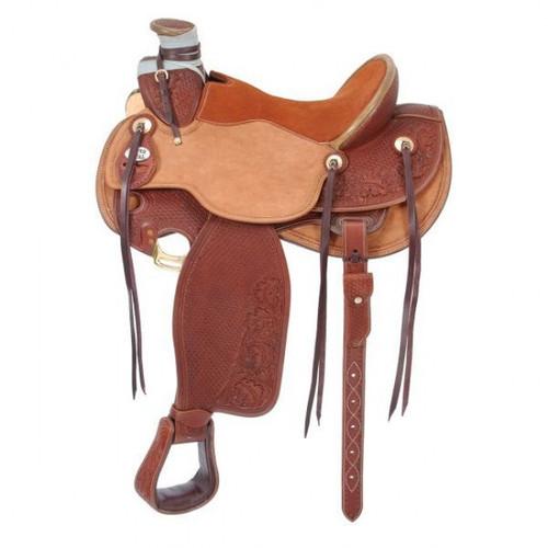 Silver Royal Wade Padded Working Saddle in Medium Tan