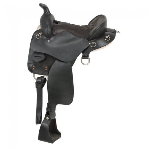 King Series Trekker Endurance Saddle with Horn in  Brown
