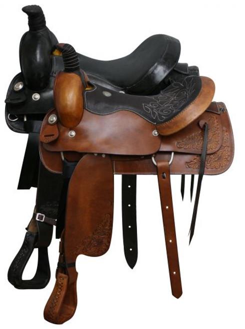 """Roping Style Saddle 16"""" 17"""""""