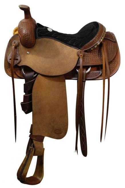 """16"""" Showman Roping Saddle Olin Young Tree Roping Warranty"""