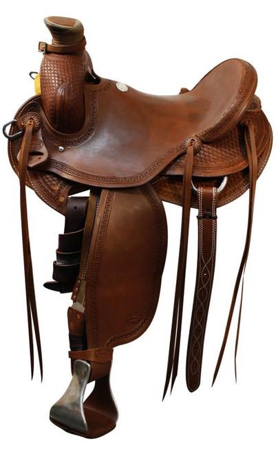 "15"" 16"" 17"" Showman Roping saddle / Roping Warranty"