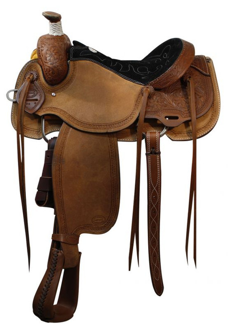 "16"" Showman Roping Saddle / Warranty"