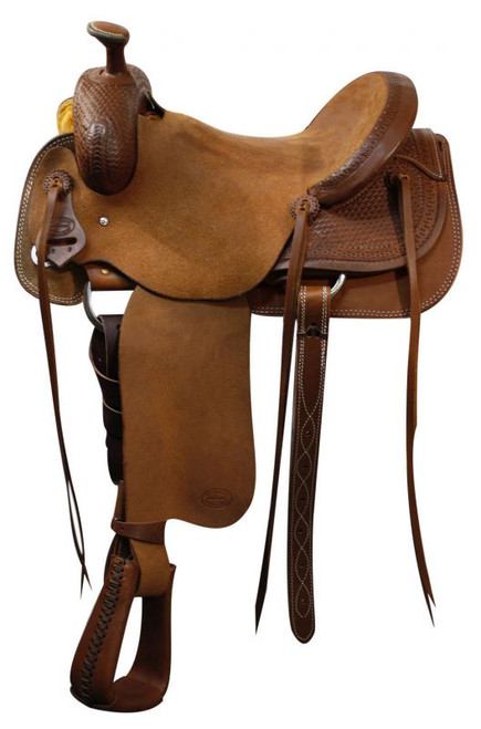 "16"" Showman Roping Saddle / Will James Tree / Roping Warranty"