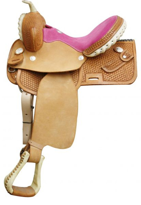 Square Skirted Barrel Saddle Pink