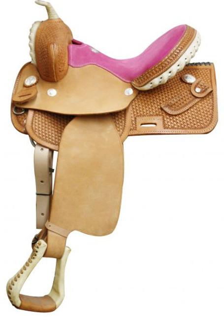 Square Skirted Barrel Saddle Pink