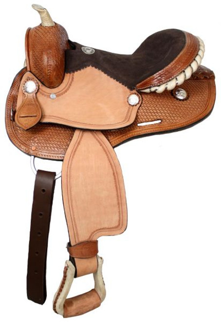 "12"" Youth Rawhide Basket Barrel Saddle"
