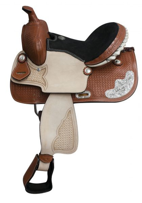 13' youth saddle with silver 6288