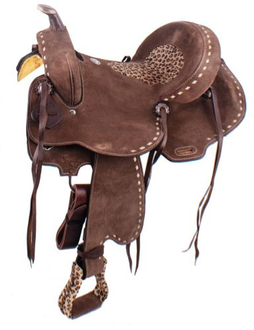 Cheetah Rough Out Barrel Saddle 15""