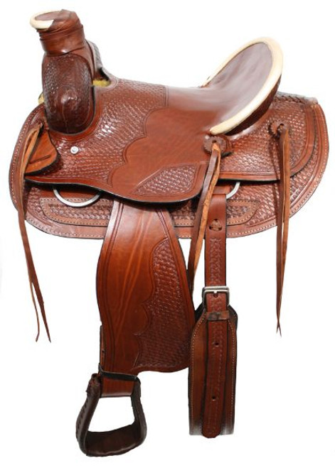 """16"""" Wade style ranch saddle with square front"""