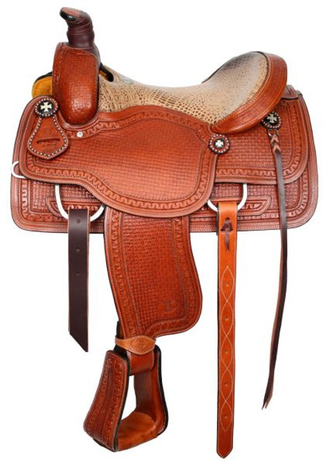 """15"""" or 16""""  Circle S Roper with alligator print seat"""