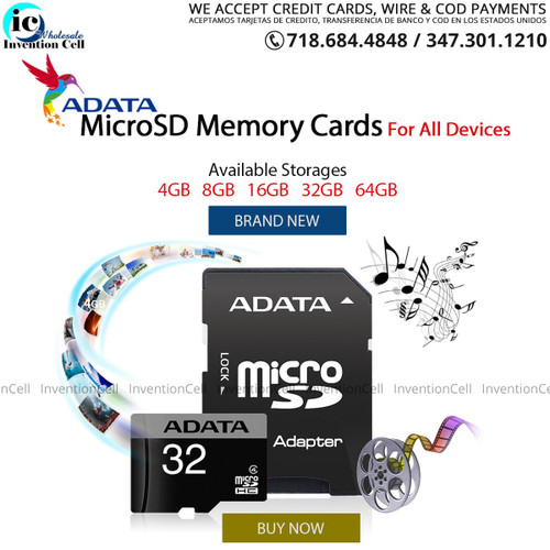 Micro SD Card 8GB (New Reatail Packaging)