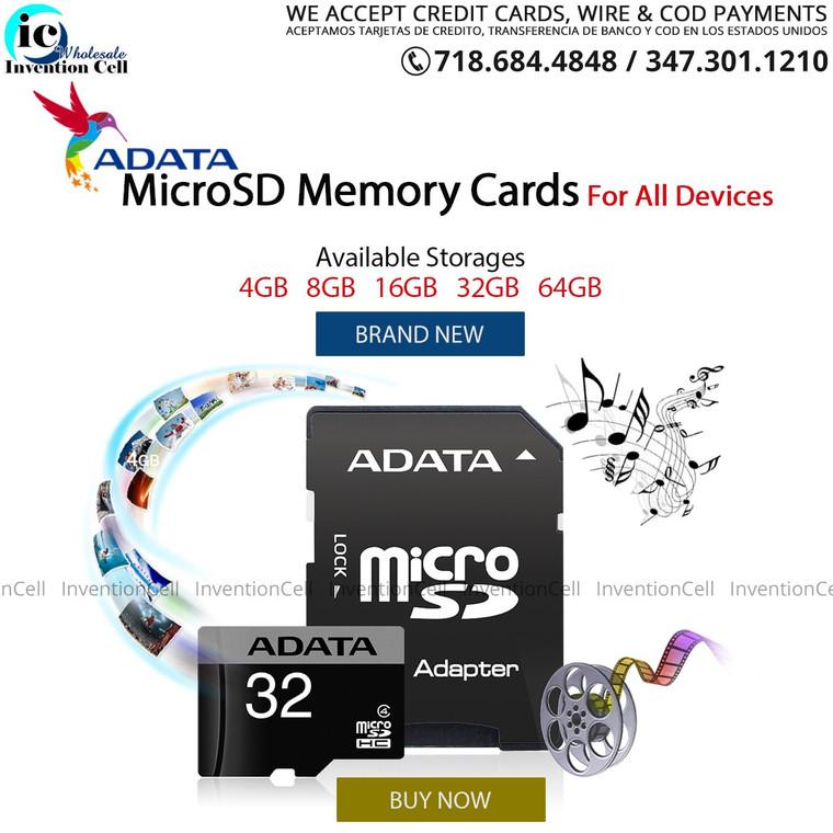 Micro SD Card 8GB (New Reatail Packaging) Adata