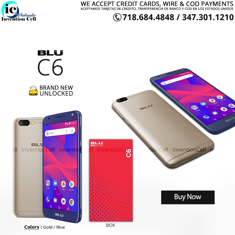 Blu C6 16GB 4G LTE (New) Sealed Box (Blue)
