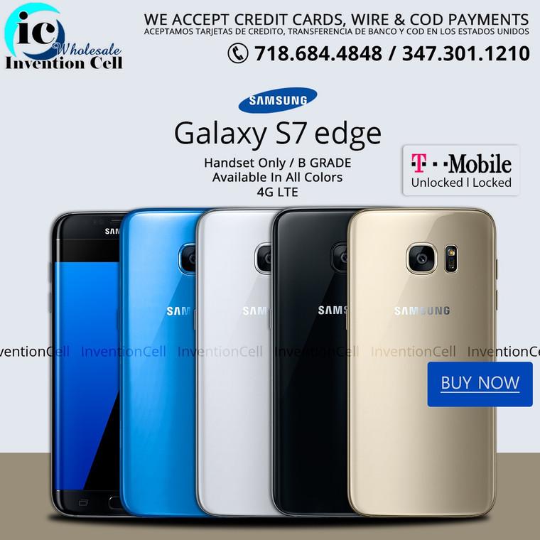 Samsung Galaxy S7 Edge , 4G LTE (T-Mobile)Unlocked  (B Grade) Handset Only,Used (Black)
