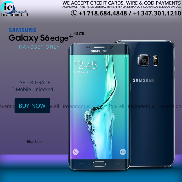Samsung Galaxy S6 Edge 4G Lte (T-Mobile) Unlocked (B Grade) used (Blue) Handset Only