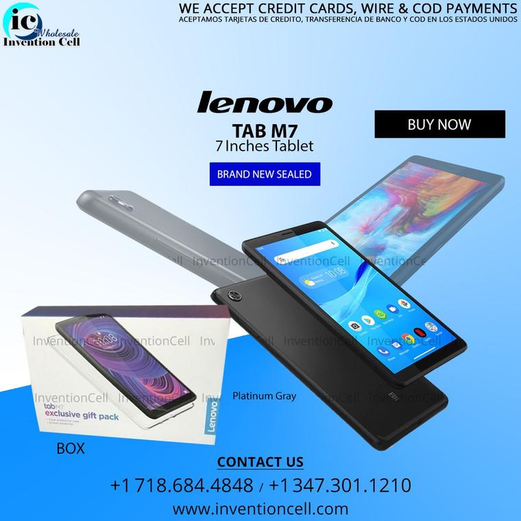 Lenovo Tab M7 16GB, 4G LTE (Unlocked)  Brand (New) Sealed (Platinum Gray)