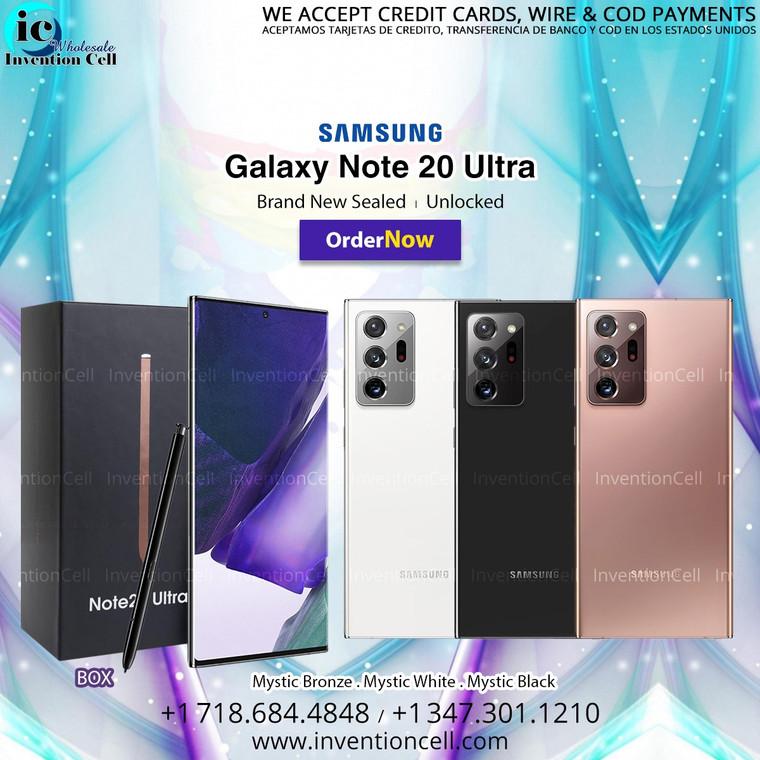 Samsung Galaxy Note 20 Ultra 256GB, 4G Lte (Unlocked) 4G LTE (New) Black