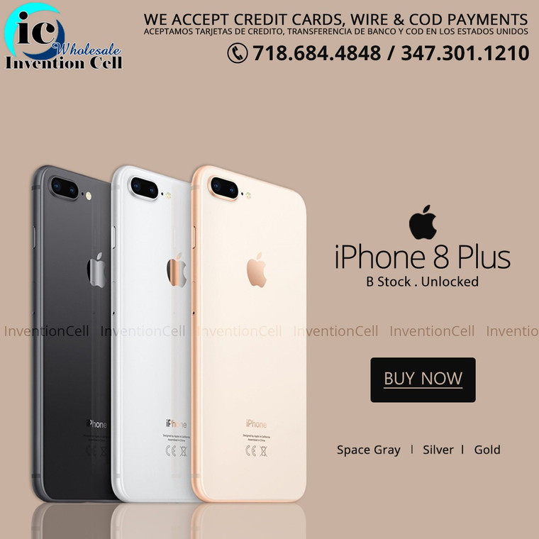 iPhone 8 Plus 256GB (B Grade)Unlocked (Silver) Handset Only