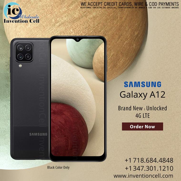 Samsung Galaxy A12 32GB, 4G LTE (Unlocked) New Sealed (Black)
